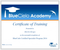 Certifikovaný specialista BlueCielo